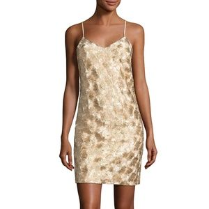 Trina Turk Gold Highlight Sleeveless Mini Dress